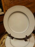 "Crown Victoria Lovelace Set of 2 Dinner Plates 10.25"" Fine China * Excellent"