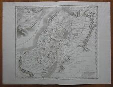 Bible Atlas Large Map Holy Land Israel 12 Tribes - 1790