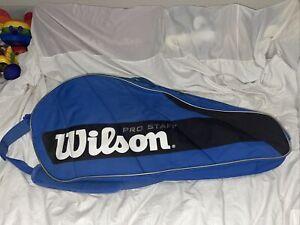Wilson Pro Staff 6 Racquet Tennis Bag - Blue  / Black / White