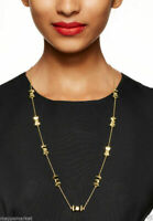 KATE SPADE NEW YORK TAKE A BOW  LONG GOLD SCATTER NECKLACE  $78 MINT!