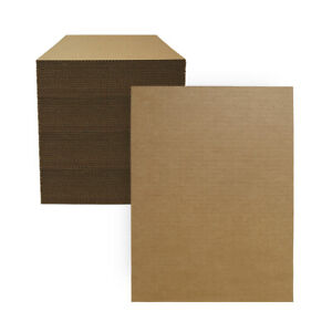 """100 - 12"""" x 16"""" Corrugated Cardboard Pads/Inserts/Sheets 32 ECT - Made in  USA"""
