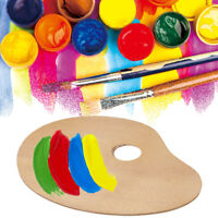 Classic Oval Wooden Paint Palette Oil/Acrylic PaintTray with Thumb Hole