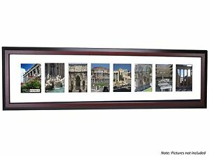 CPF - 7 Opening Glass Face Mahogany Picture Frame Holds 4x6 Photos