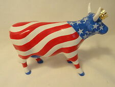 Cow Parade #9189 American Royal Stars & Stripes Red Whte Blue Patriotic Figurie