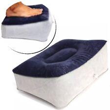 Hinchable Fußkissen Reposapiés Apoyapies Taburete Pie Azul Gris