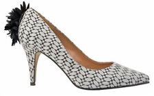 KALEIDOSCOPE GREY JACQUARD PRINT CORSAGE COURT SHOES EVENING DRESS SIZE 4 RRP£69