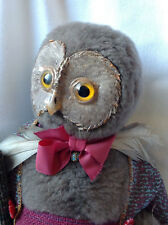 Rare Vintage Travel Owl Cloth Doll Figure G.H. FRENCH TOYS England Harry Potter