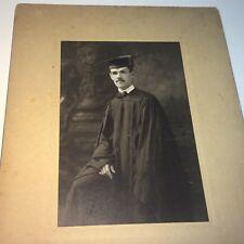 Antique American College Graduate Fashion Gentleman, Mustache! Cabinet Photo! US