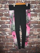 Athleta High Rise Womens Size L Floral Chaturanga  Bloom Black legging Tight