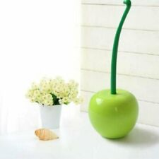 Stylish Lovely Cherry Shape Lavatory Brush Toilet Brush & Holder Set Green