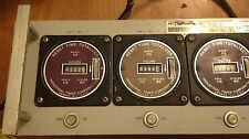 Vintage Collins Run Time Panel w/ 5 Industrial Timer Corp C5 Meters - Untested