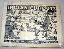 VTG 1939 THANKSGIVING INDIAN VILLAGE, UNCUT 3D Diorama CRAFT KIT PAPER MODEL iop