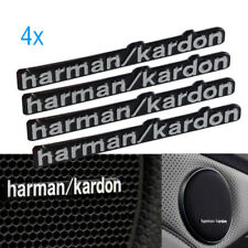 4x Harman Kardon Badge Logo Sports  Car Audio Speaker Stickers BMW All Series