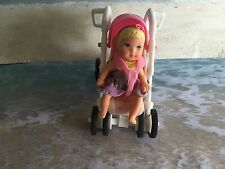 BARBIE'S KRISSY CHRISSY HAPPY FAMILY BABY DOLL WITH  STROLLER