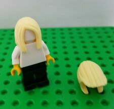 New Lego Long Hair Minifigure Blonde Girl Side Bangs Part Over Shoulder Yellow