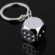 Creative Dice Key chain Keychain Ring Key Fob Funny Toys Props Keyring Key Gift