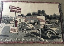 IN & OUT BURGER FAST FOOD California Drive Thru Tapestry Blanket afghan throw