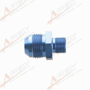 12AN AN12 Male Flare To M18 x 1.5 Metric Aluminum Straight Fitting Blue