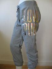 0f98fd252c3 Victoria s Secret Pink Sweatpants Sequin Bling Lounge Pant Signature Fit VS  Regular S Gray