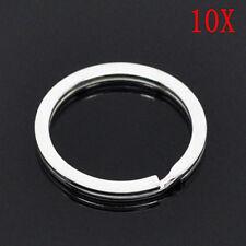 10*25mm Stainless Steel Hoop Split Key Ring Chain Loop Keyrings Connectors