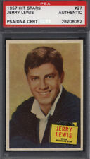 1957 Topps Hit Stars #27 Jerry Lewis Signed Auto Autographed Card PSA/DNA