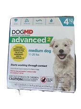 Dog Md Flea Medicine, Advanced 2, Medium Dog, 11-20 lbs., 4 month Supply