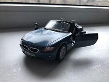 BMW Z4 Cabrio, Kinsmart Toy Model Scale 1:32, Blue Colour, Doors Opens.