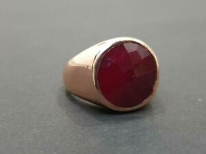 Natural Ruby Ring Dark red Ruby Gemstone 925 Solid Sterling Silver Ring for Mens