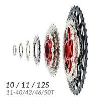 Cassette 10-11-12 Velocidades 11-40/42/46/50 Dientes Shimano Sram Bicicleta MTB