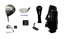 SENIOR MENS LEFT HAND CADET-1 INCH EXECUTIVE GOLF SET 460cc DRIVER, BAG+PUTTER