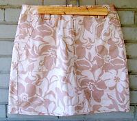 Josephine Chaus Desert Khaki Stretch Cotton Skirt Women's Size 8