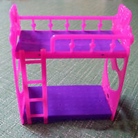 Doll Bed Miniature Mini Bunk Bed Set Furniture Dollhouse for Doll Girls Gift Toy