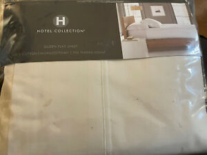 Hotel Collection 700 Threadcount Solid Ivory Queen Flat Sheet