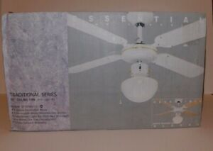 """New Home Essentials Reversible Blades 3 Speed 36"""" Ceiling Fan White / Oak"""