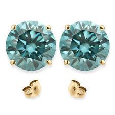 0.25 Karat Blaue Diamantohrstecker aus 585 Weiß- oder Gelbgold