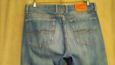 Mens 36 X 31 Lucky Brand STRAIGHT LEG Distressed Wash Denim Blue Jeans