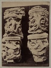 Sculpture Moyen Âge Art gothique France Vintage albumine ca 1880