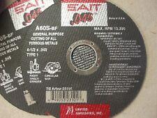 "New listing 40 Sait 4 1/2"" x .045 x 7/8 A603 metal cut off wheel, disc. 23101"
