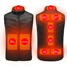 Men's Heated Vest Jacket Electric Winter Body Warmer Windproof Coats Top USB  UK