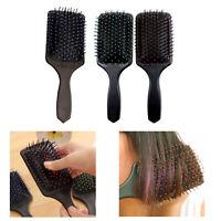 New Large Professional Paddle Hairbrush Tangle Free Cushion Massage Comb Brush