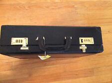 Rare Renwick Canada Belting Leather Hardside Briefcase black Attache legal