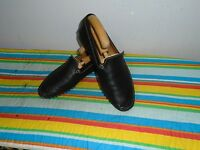 MEN'S ROBERTO ROSSINI MADE IN ITALY BLACK LEATHER SLIP ONS SHOES SIZE UK 6