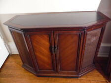 Vintage Sears Silvertone Stereo Am/Fm Radio Phonograph Console Turntable Cabinet