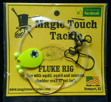 Magic Touch Tackle No.540 Fluke Rig with Chartreuse Spinner- Weakfish - Flounder
