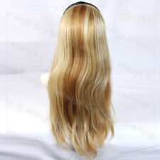 "Wiwigs Blonde Mix 22"" Long 1 Piece Heat Resistant Hairpiece Extension"