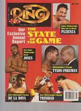 THE RING MAGAZINE PAZIENZA-JONES-De La HOYA-TRINIDAD-TYSON-FOREMAN MAY 1995