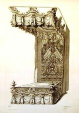 Pequegnot's Ornaments -1858- CARVED BED by MEROT