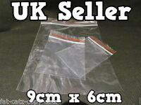 100 x 9cm x 6cm CLEAR PLASTIC GRIP & SELF SEAL PLASTIC POLYTHENE BAGS RE-USEABLE