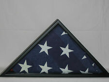 SMALLER DISPLAY CASE FOR 3' X.5' COMMEMORATIVE FLAG BLACK MILITARY FLAG CASE NEW