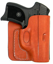 CEBECI BROWN LEATHER CONCEALMENT BACK POCKET WALLET HOLSTER - WALTHER PPK, PPK/S